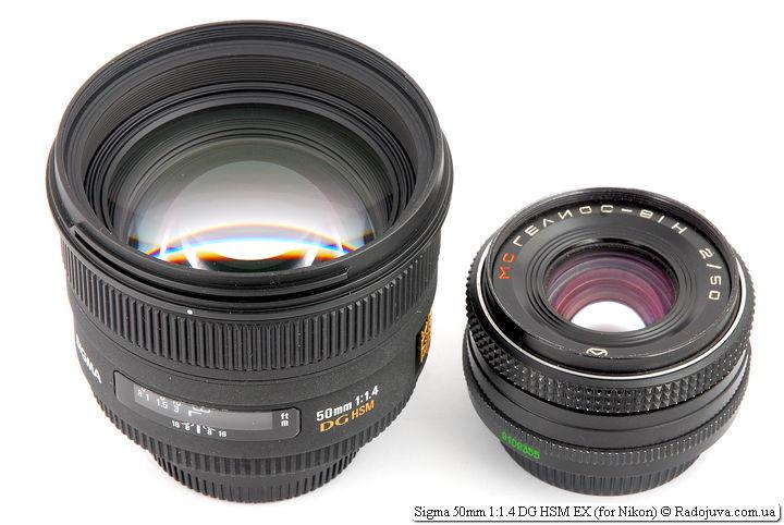 Sigma 50mm 1:1.4 DG HSM EX и МС Гелиос-81Н 2/50