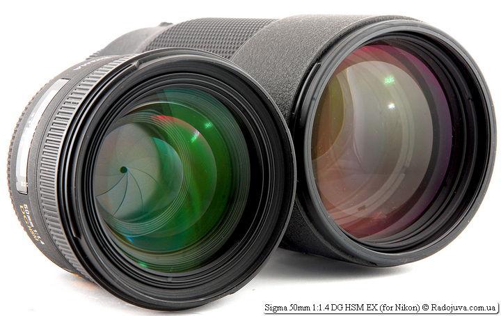 Sigma 50mm 1:1.4 DG HSM EX и Nikon ED AF Nikkor 80-200mm 1:2.8D (MKII)