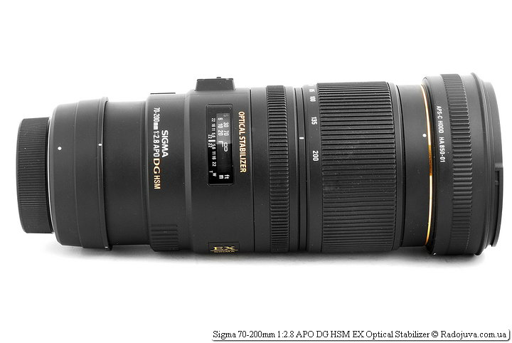 Sigma 70-200mm 1:2.8 APO DG HSM EX Optical Stabilizer c удлинителем