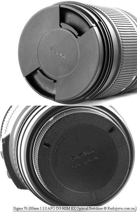 Крышки Sigma 70-200mm 1:2.8 APO DG HSM EX Optical Stabilizer