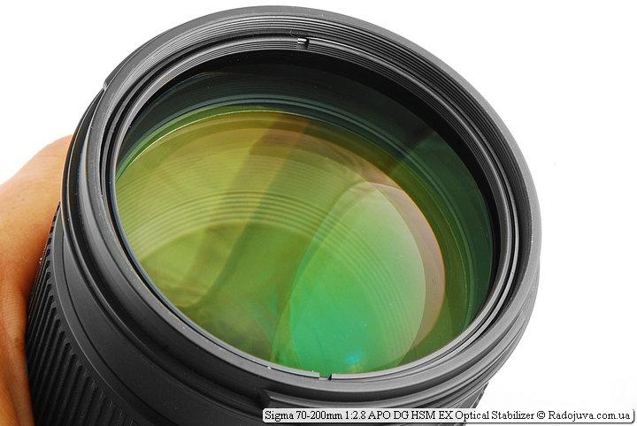 Просветление передней линзы Sigma 70-200mm 1:2.8 APO DG HSM EX Optical Stabilizer