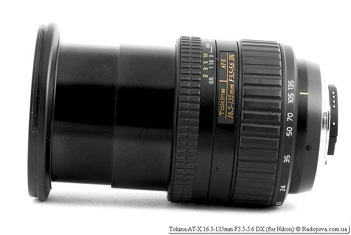 Tokina AT-X 16.5-135mm F3.5-5.6 DX на фокусном расстоянии 135мм