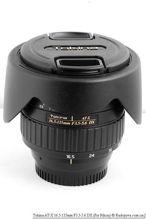 Tokina AT-X 16.5-135mm F3.5-5.6 DX с блендой для транспортировки
