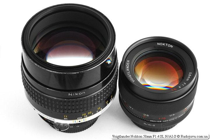 Nikon Nikkor 105mm 1:1.8 (AI-S)и Voigtlander Nokton 58mm F1.4 SL N/AI-S