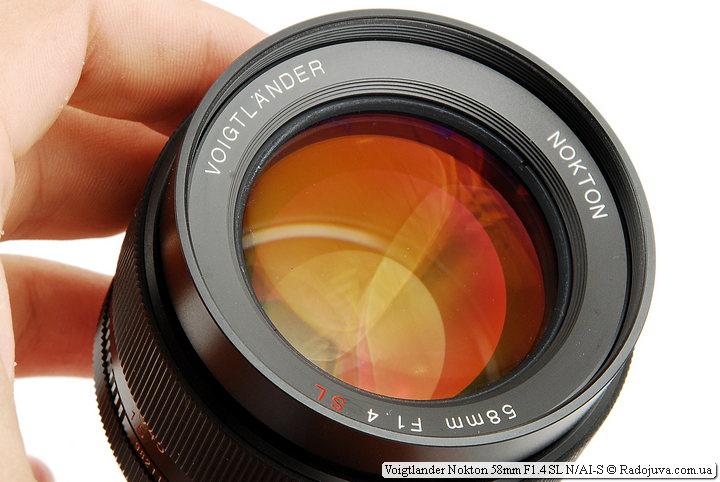 Просветление передней линзы Voigtlander Nokton 58mm F1.4 SL N/AI-S
