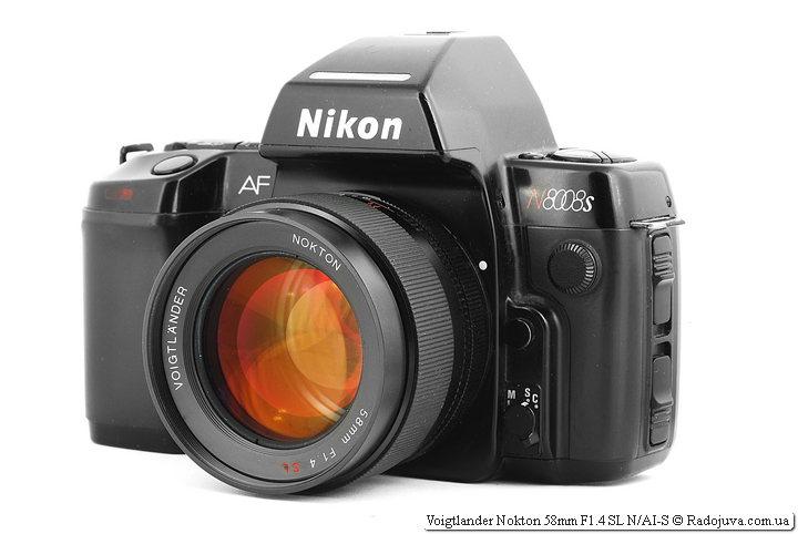 Voigtlander Nokton 58mm F1.4 SL N/AI-S на ЗК