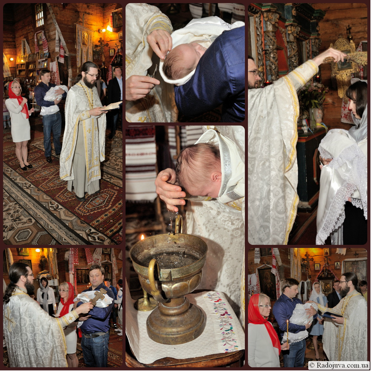 Крещение ребенка в Пирогово