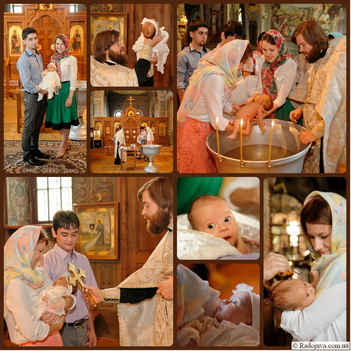 Крещение ребенка в Свято-Троицком Ионинском монастыре
