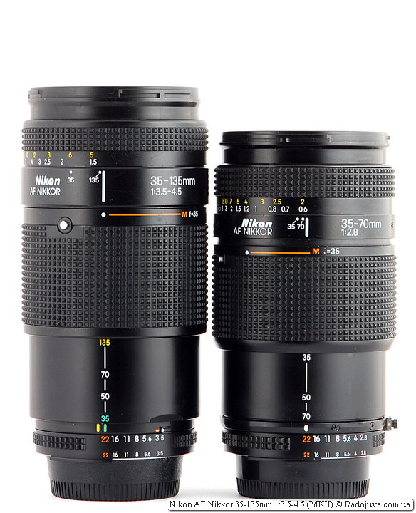 Nikon AF Nikkor 35-135mm 1:3.5-4.5 (MKII) и Nikon AF Nikkor 35-70mm 1:2.8 (MKI)