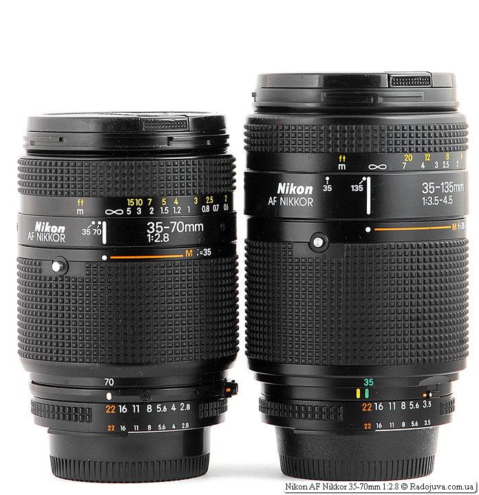 Nikon AF Nikkor 35-70mm 1:2.8 и Nikon AF Nikkor 35-135mm 1:3.5-4.5 (MKII)
