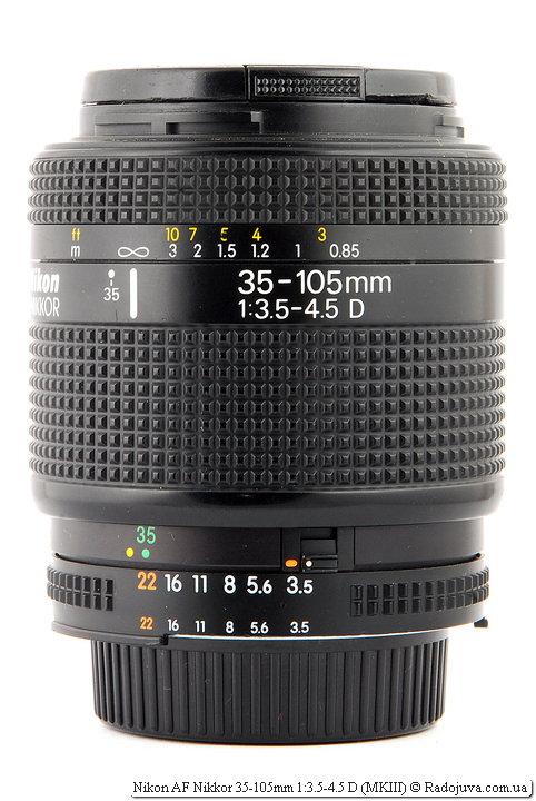 Обзор Nikon AF Nikkor 35-105mm 1:3.5-4.5 D (MKIII)