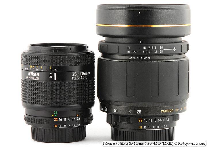 Nikon AF Nikkor 35-105mm 1:3.5-4.5 D (MKIII) и Tamron SP AF Aspherical LD [IF] 28-105mm 1:2.8 276D