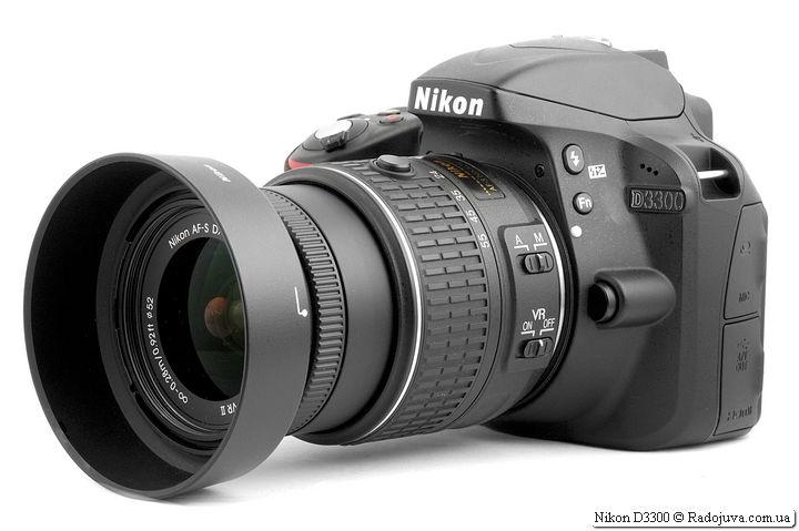 Nikon D3300 с объективом Nikon 18-55mm 1:3.5-5.6GII VR II AF-S DX Nikkor
