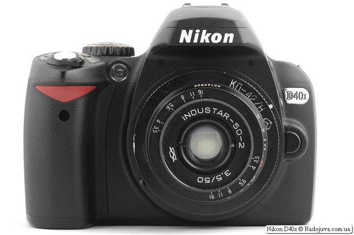 Nikon D40x с объективом Industar-50-2 3,5/50