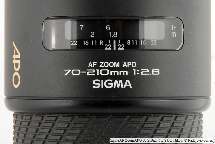 Sigma AF Zoom APO 70-210mm 1:2.8