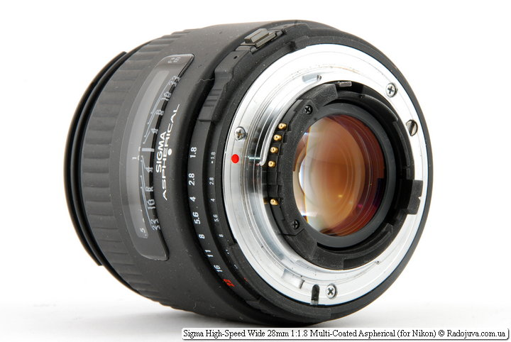 Sigma High-Speed Wide 28mm 1:1.8 Multi-Coated Aspherical