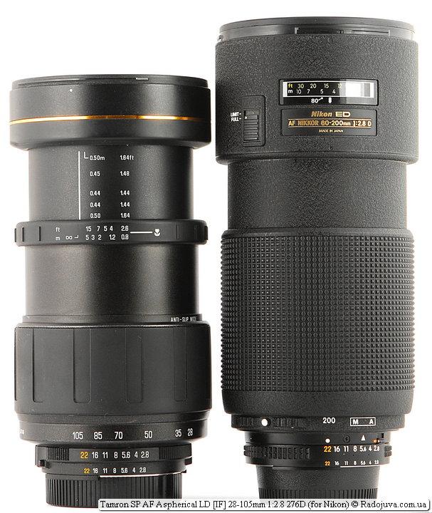 Tamron SP AF Aspherical LD [IF] 28-105mm 1:2.8 276D и Nikon ED AF Nikkor 80-200mm 1:2.8D (MKII)