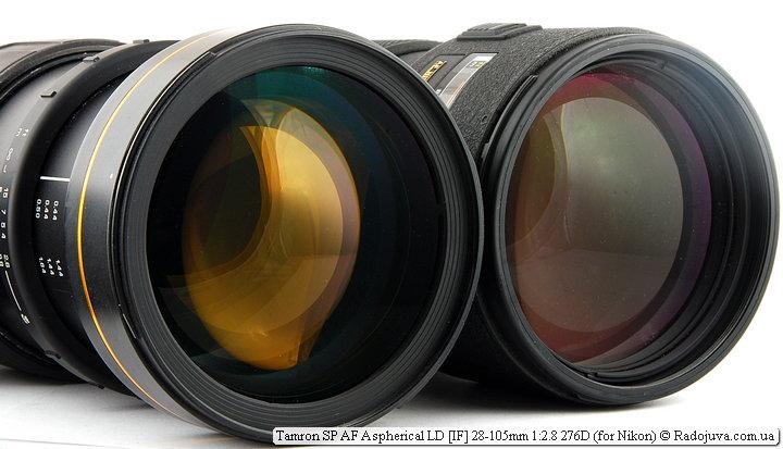 Переднии линзы Tamron SP AF Aspherical LD [IF] 28-105mm 1:2.8 276D и Nikon ED AF Nikkor 80-200mm 1:2.8D (MKII)