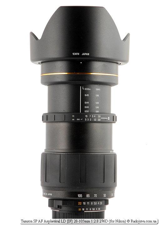 Tamron SP AF Aspherical LD [IF] 28-105mm 1:2.8 276D с блендой