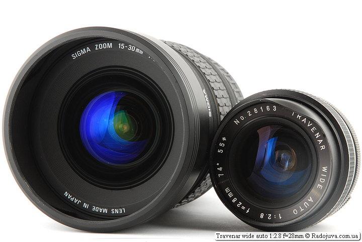 Sigma Zoom 15-30mm D 1:3.5-4.5 DG EX Aspherical IF и Travenar wide auto 1:2.8 f=28mm на ЗК