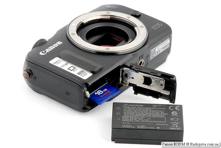 Отсек для батарей и карт памяти Canon EOS M