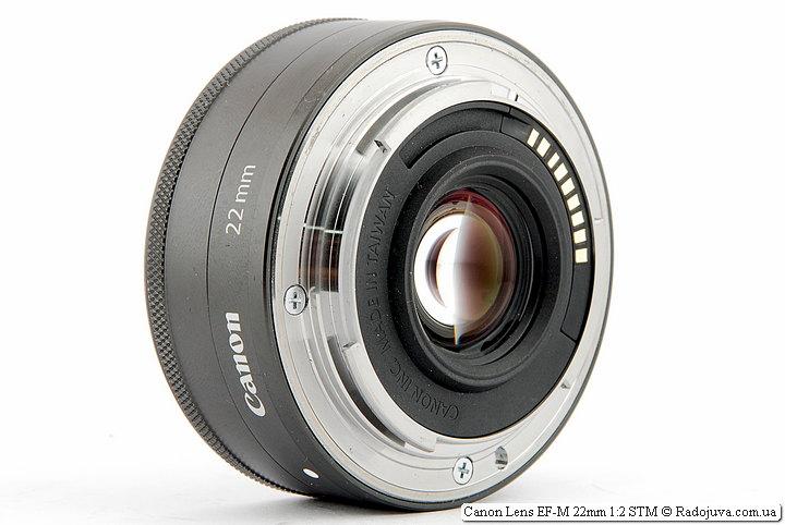 Металлический байонет Canon Lens EF-M 22mm 1:2 STM