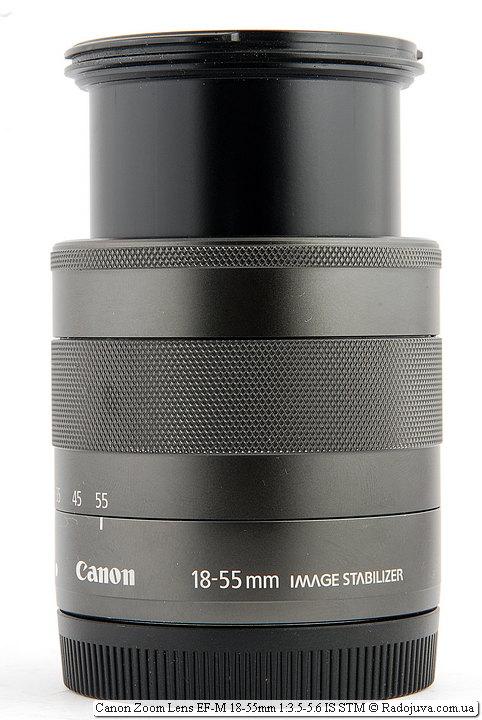Максимальная длина хобота Canon Zoom Lens EF-M 18-55mm 1:3.5-5.6 IS STM