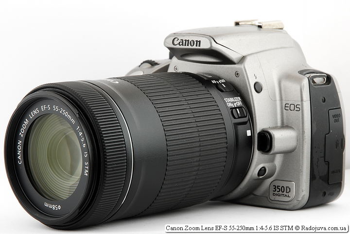 Объектив Canon Zoom Lens EF-S 55-250mm 1:4-5.6 IS STM на ЦЗК