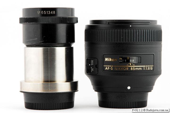 F=92 1:2 от диапроектора Лэти-60 (60М) и классический скучный портретник Nikon AF-S Nikkor 85mm 1:1.8G IF SWM