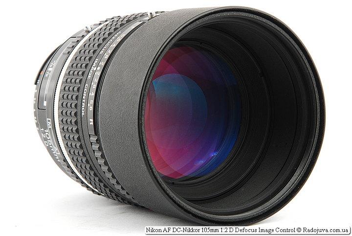 Просветление передней линзы Nikon AF DC-Nikkor 105mm 1:2 D Defocus Image Control
