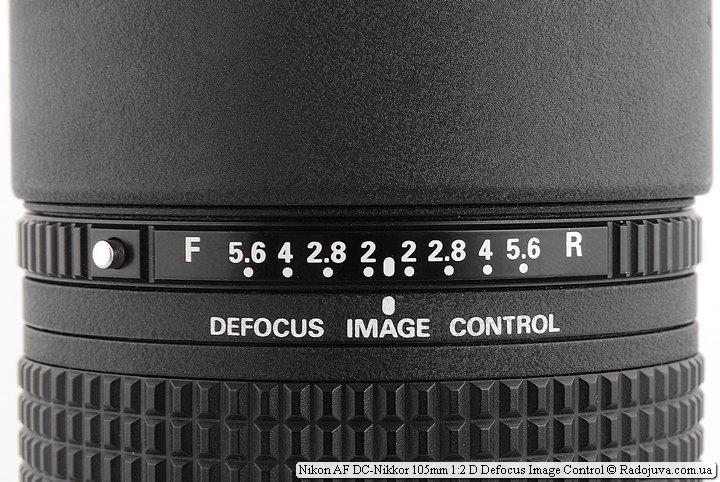 Кольцо Defocus Image Control объектива Nikon AF DC-Nikkor 105mm 1:2 D Defocus Image Control