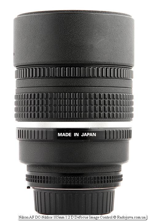 Nikon AF DC-Nikkor 105mm 1:2 D Defocus Image Control