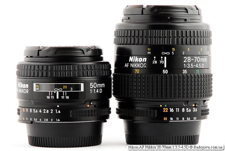 Nikon AF Nikkor 50mm 1:1.4D (made in Japan) и Nikon AF Nikkor 28-70mm 1:3.5-4.5D
