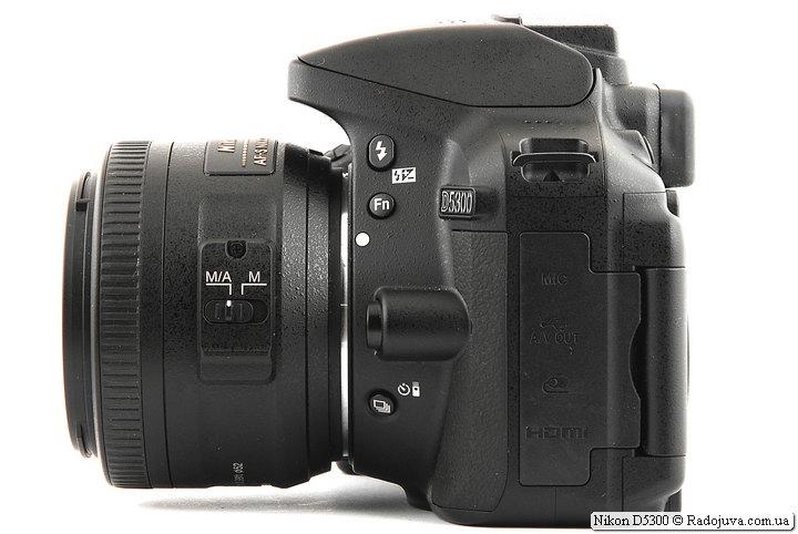 Nikon D5300 с объективом Nikon DX AF-S Nikkor 35mm 1:1.8G SWM Aspherical