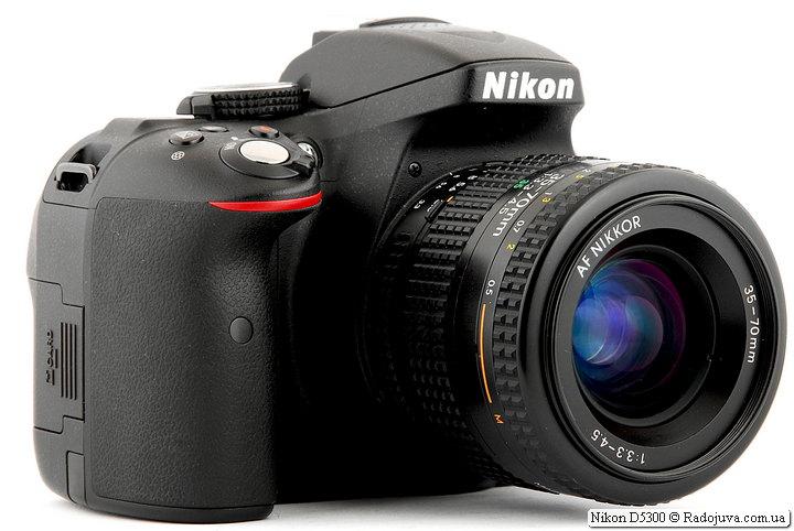 Nikon D5300 с объективом Nikon AF Nikkor 35-70mm 1:3.3-4.5 (MKII)