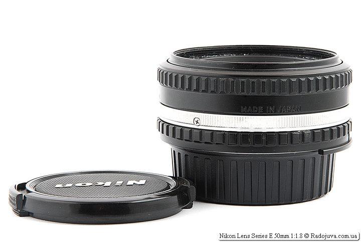 Nikon Lens Series E 50mm 1:1.8 (MKII) с передней крышкой