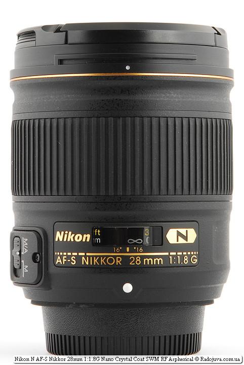 View Nikon N AF-S Nikkor 28mm 1: 1.8G Nano Crystal Coat SWM RF Aspherical with covers