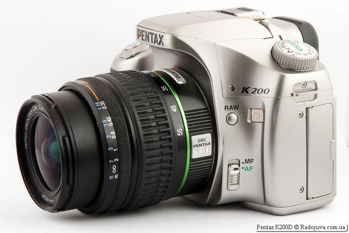 Pentax K200D с объективом SMC Pentax-DA 1:3.5-5.6 18-55mm AL