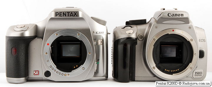 Pentax K200D и Canon EOS 350D