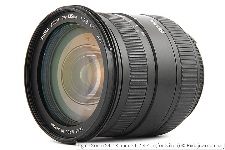 Review Sigma Zoom 24-135mmD 1: 2.8-4.5