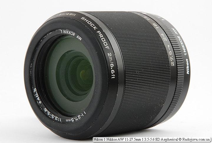 Nikon 1 AW1 with Nikon 1 Nikkor AW 11-27.5mm 1: 3.5-5.6 ED Aspherical lens
