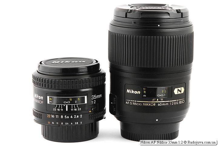 Nikon AF Nikkor 35mm 1:2 (MKI) и 60/2,8