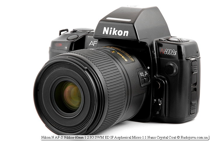 Nikon N AF-S Nikkor 60mm 1:2.8G SWM ED IF Aspherical Micro 1:1 Nano Crystal Coat на ЗК