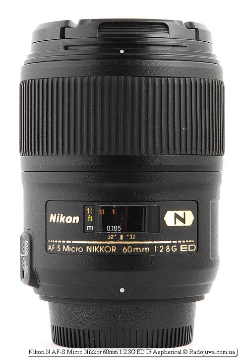 Nikon N AF-S Nikkor 60mm 1:2.8G SWM ED IF Aspherical Micro 1:1 Nano Crystal Coat