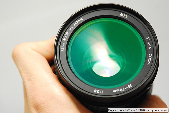 Sigma Zoom 28-70mm 1:2.8, просветление передней линзы