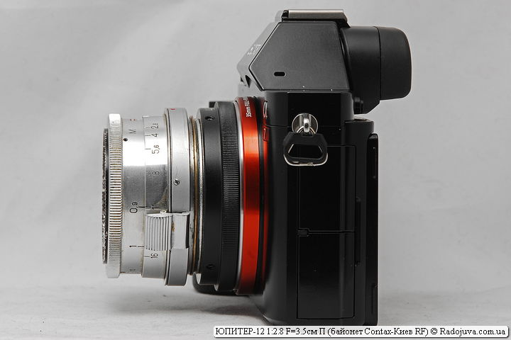 ЮПИТЕР-12 1:2.8 F=3.5см П с байонетом Contax-Киев RF на камере Sony a7