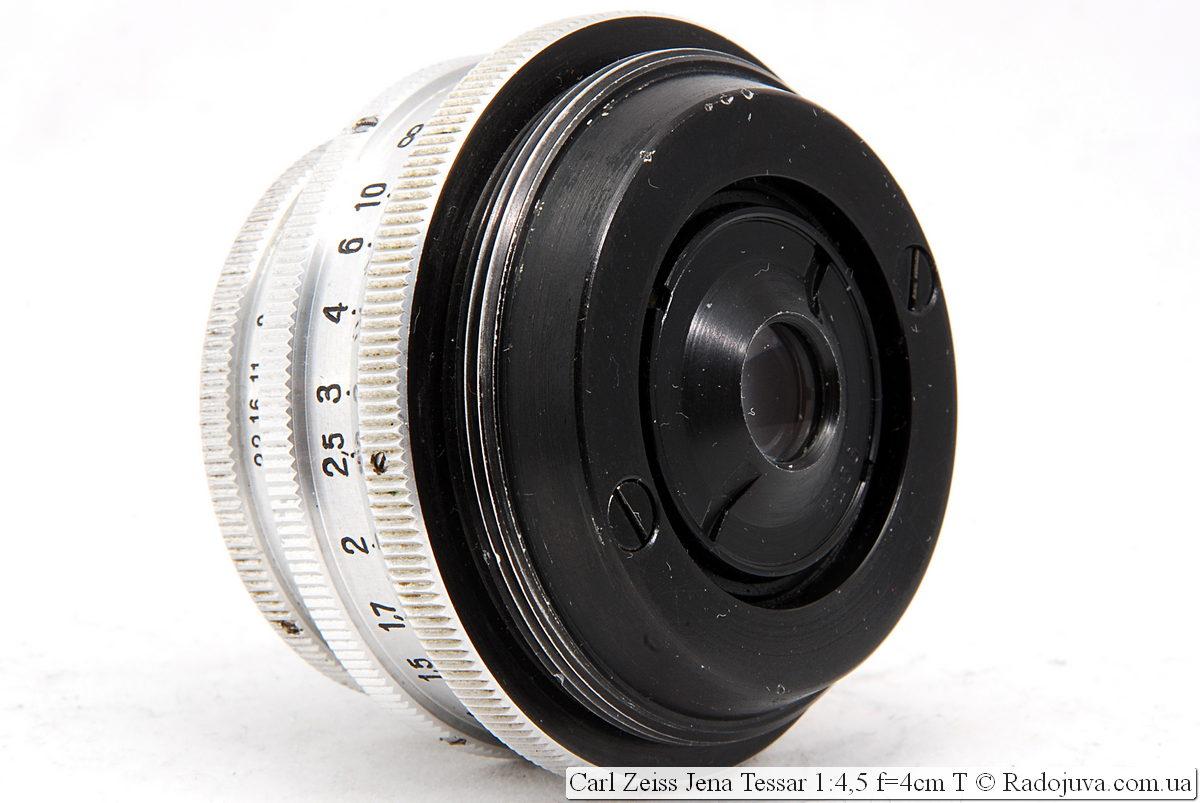 Задняя линза Carl Zeiss Jena Tessar 1:4,5 f=4cm T