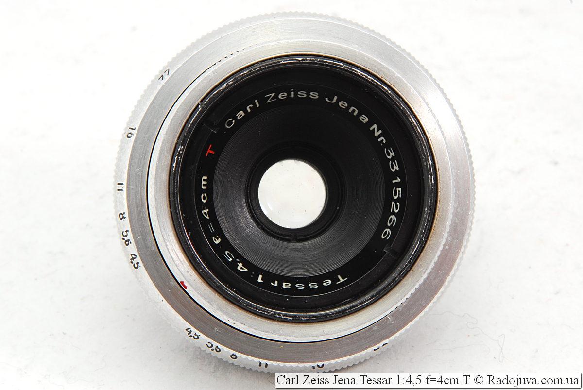 Carl Zeiss Jena Tessar 1:4,5 f=4cm T