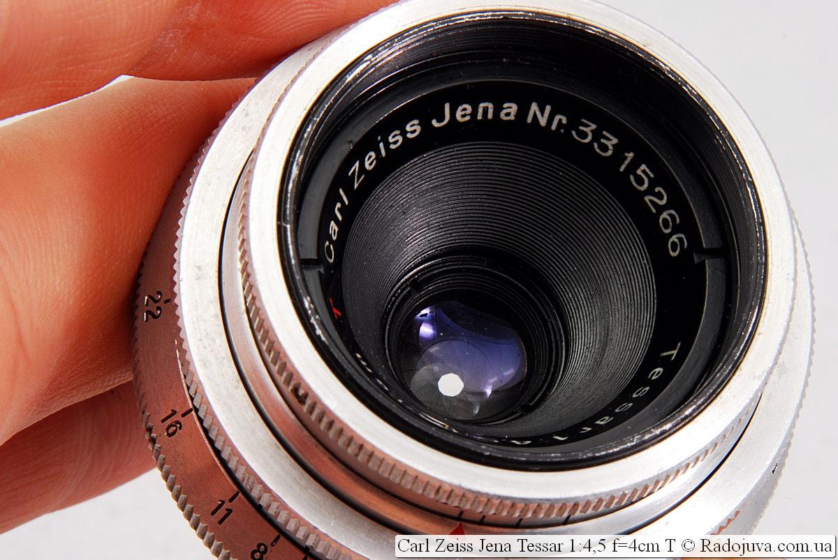Просветление объектива Carl Zeiss Jena Tessar 1:4,5 f=4cm T
