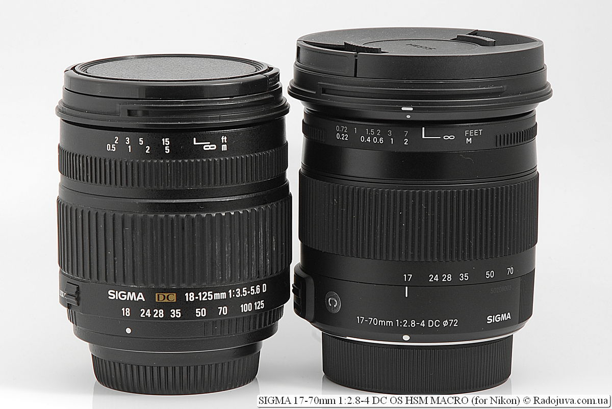 Sigma DC 18-125mm 1: 3.5-5.6 D and SIGMA C 17-70mm 1: 2.8-4 DC OS HSM MACRO